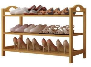 UDEAR Bamboo Wooden Shoe Rack