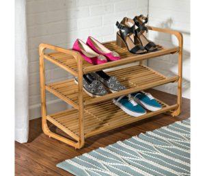 Honey-Can-Do Bamboo 3-Tier Shoe Shelf