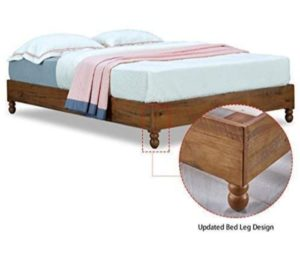 MUSEHOMEINC 12-Inch Solid Wooden Bed Frames