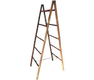 Master Garden Products Folding Double Bamboo Ladder Rack