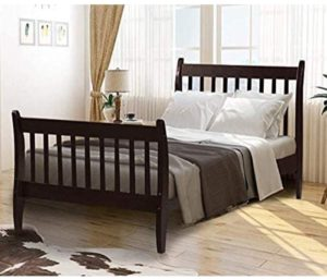 Rhomtree Twin Size Wood Platform Bed Frame