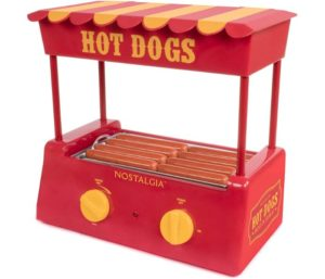 Nostalgia Hot Dog Cooker Sized, 4 Foot Long and 6 Bun Capacities