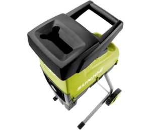 Sun Joe Electric Silent Wood Chipper Leaf Shredder