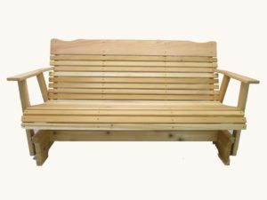 5 Foot Natural Cedar Porch Outdoor Glider Bench
