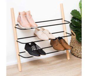 Eden & Co Wooden Shoe Rack Organizer