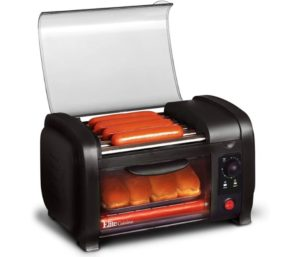 Elite Gourmet Hot Dog Cooker 30-Min Timer