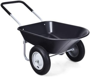 Goplus Dual Wheel Wheelbarrow