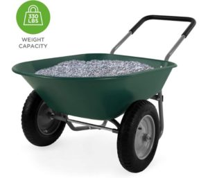 Best Choice Products Dual-Wheel Garden Cart