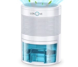 LONOVE Best Small Dehumidifier 2200 Cubic Feet (210 Sq ft)