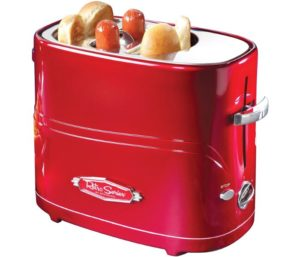 Nostalgia Hot Dog Cooker Pop-Up 2 Bun Toaster Mini Tongs…