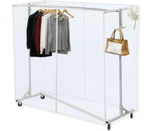 Simple Houseware Industrial Grade Z-Base Garment Rack, 400lb Load with 62 Extra Long bar..